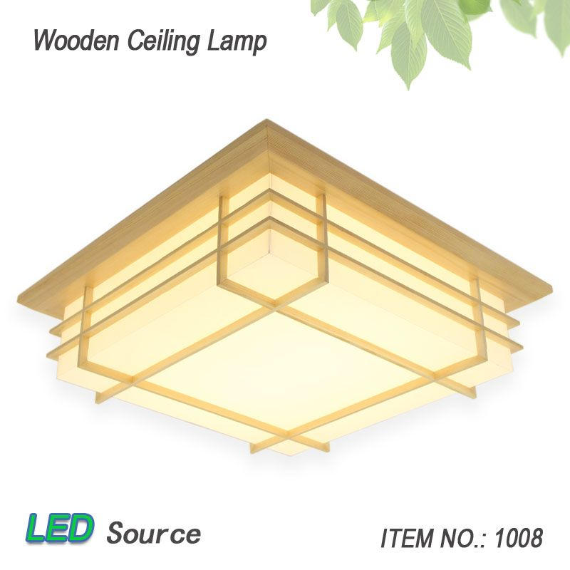 Japanese style tatami wood ceiling and pinus sylvestris led lamp japanese style tatami wood ceiling and pinus sylvestris led lamp natural color square grid paper ceiling aloadofball Image collections