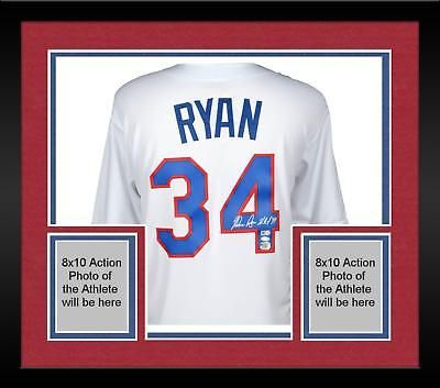 Nolan Ryan Texas Rangers Framed Signed White Cooperstown Jersey ...