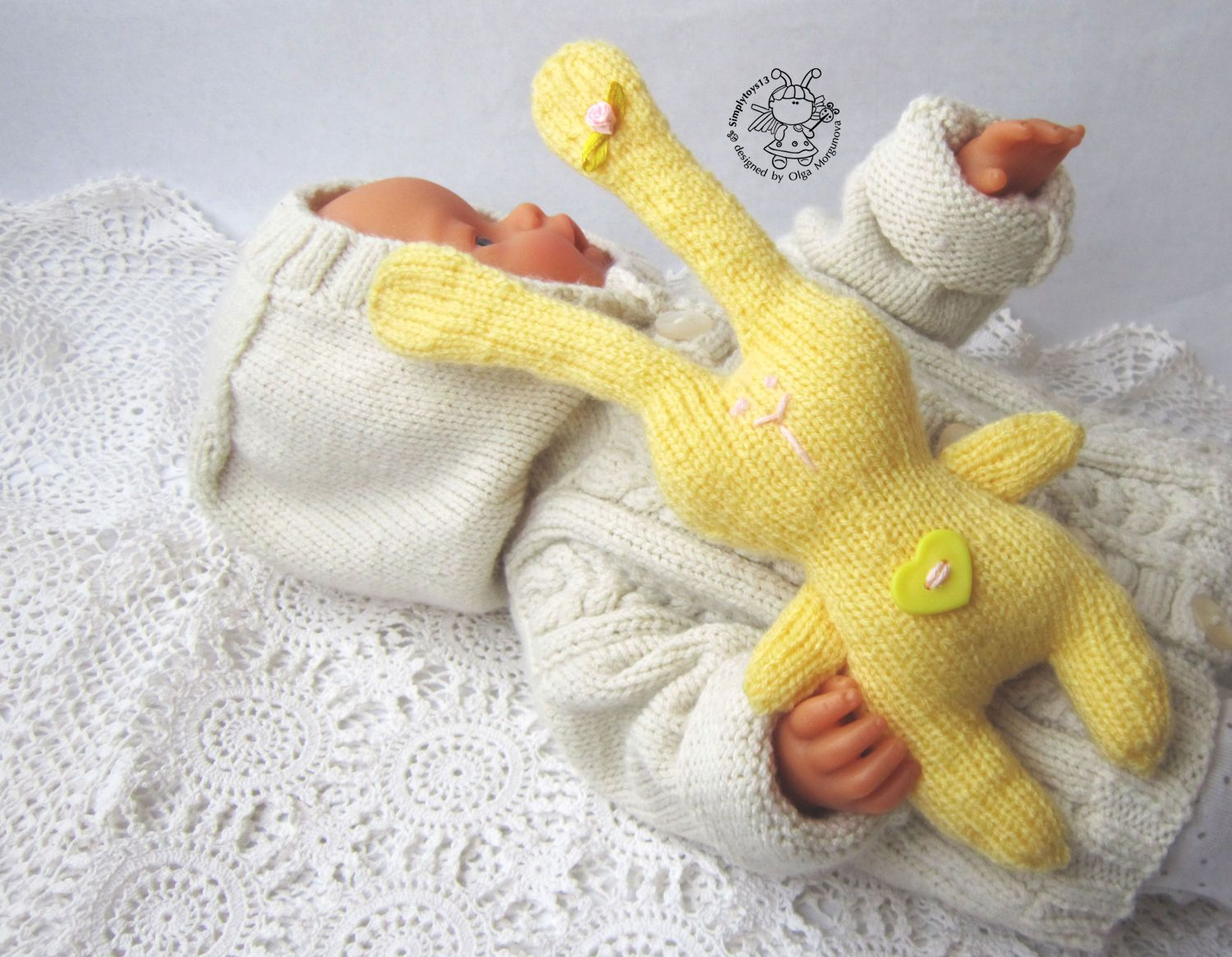 yellow bunny for small babies knitting pattern knitted round bankloansurffo Images