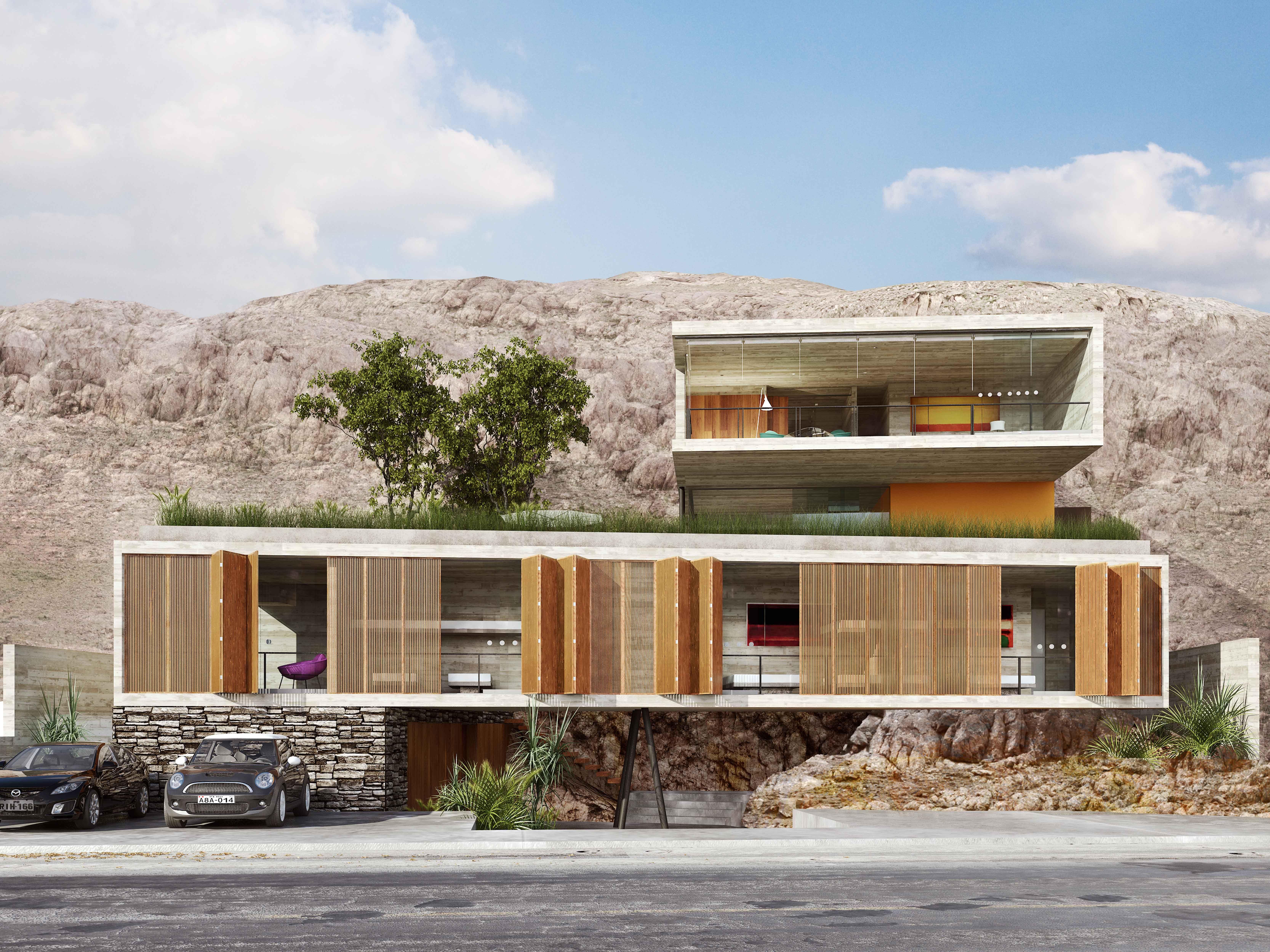 House window sunshade design  casapulg   back house  pinterest  concrete