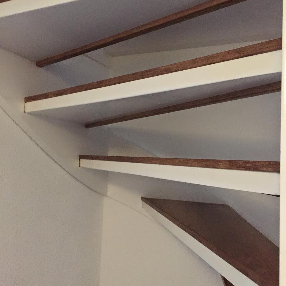Traprenovatie voor open trappen woning pinterest for Open trap renovatie