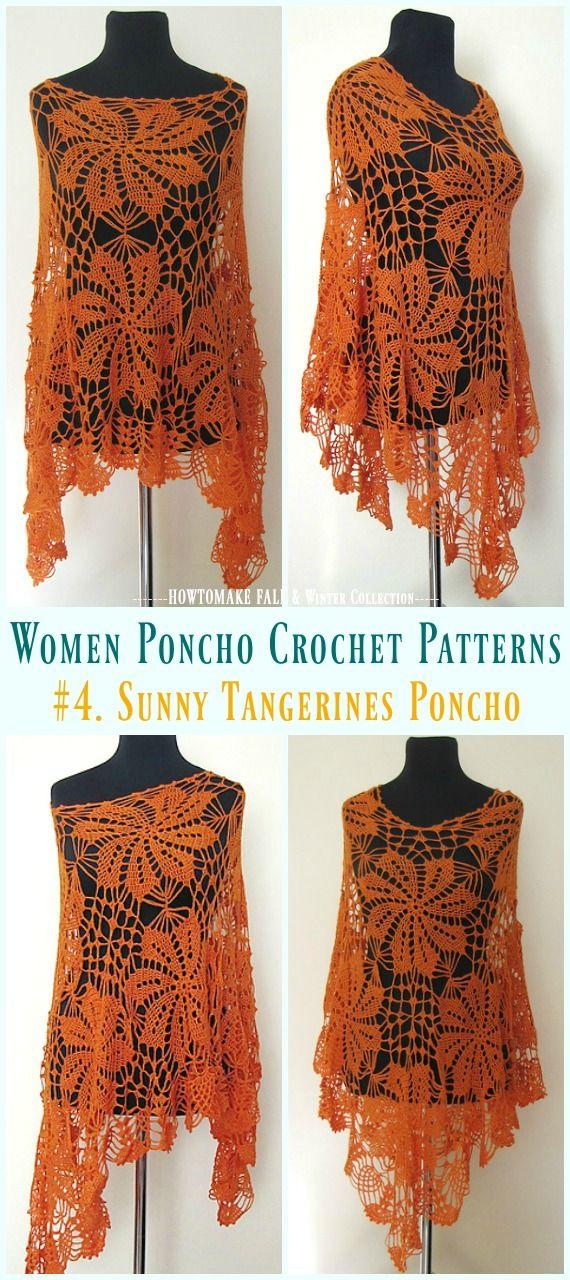 Fall & Winter Women Poncho Crochet Patterns | Ponchos and crochet ...