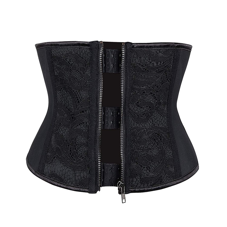 ff48d4988 Amazon  Lover-Beauty Short Torso Latex Waist Cincher for Women Body Shaper  Black XXS  25.99