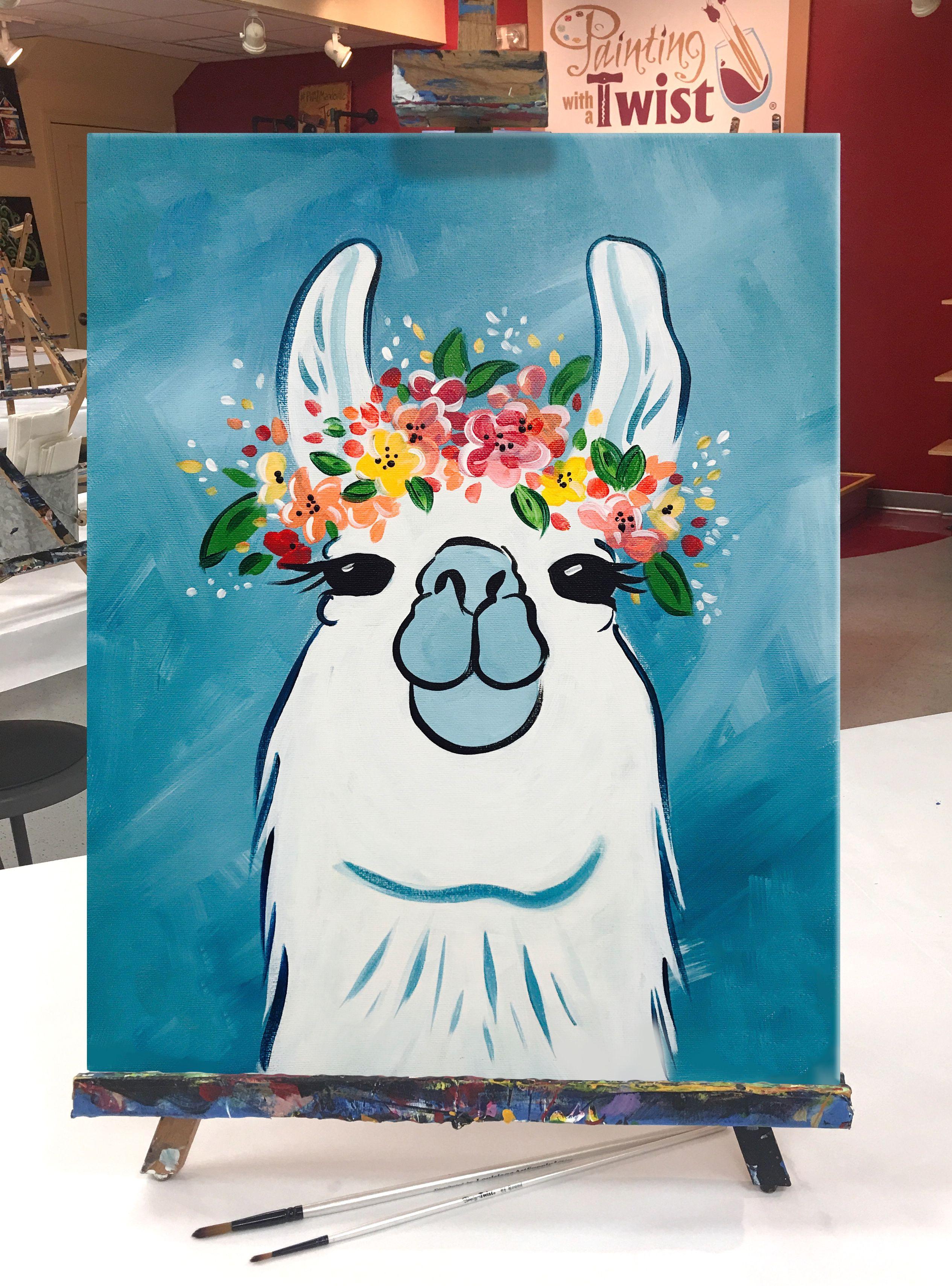 Llama Canvas Painting