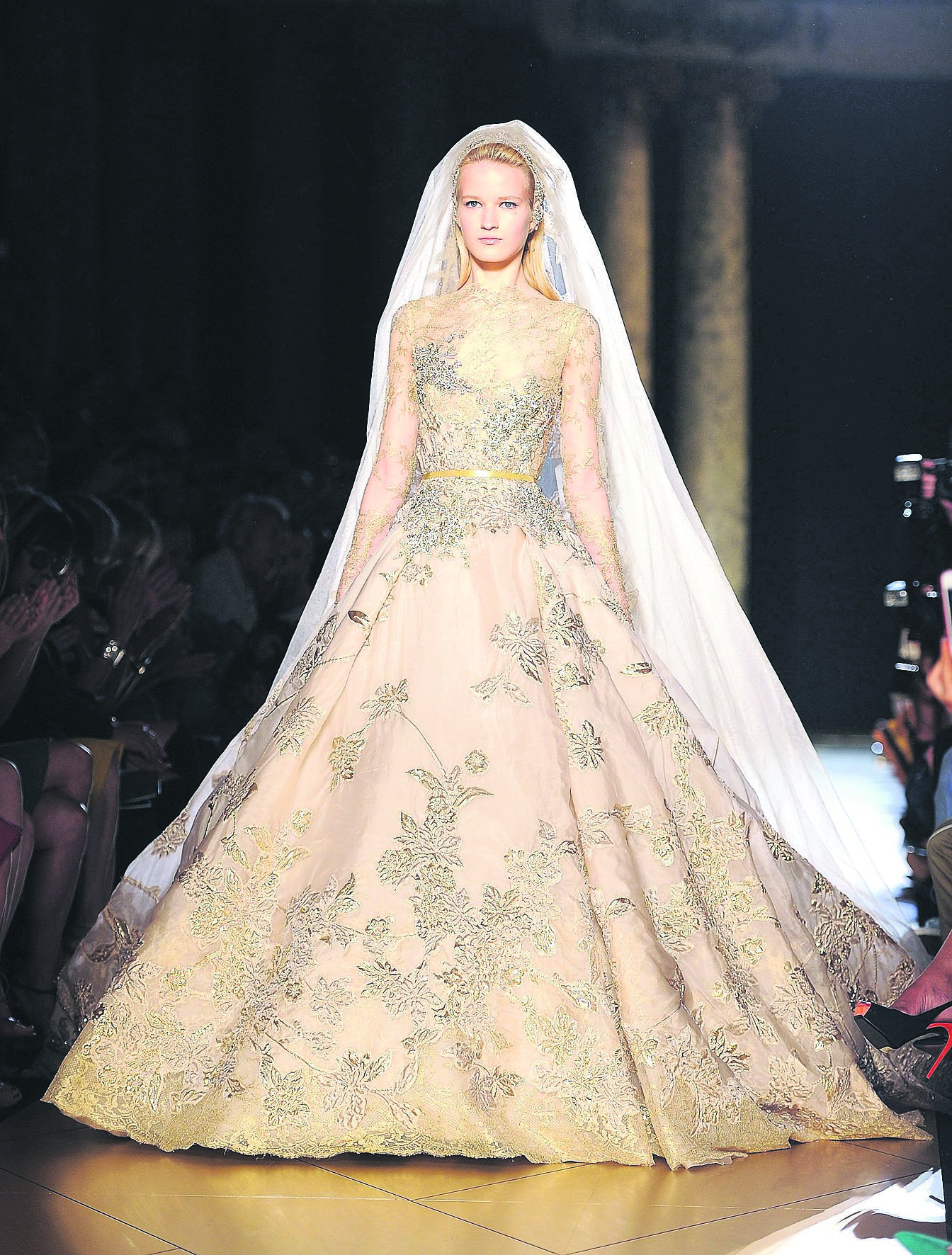Couture Dress Designers Haute Wedding Gown By Elie Saab Shown In Paris