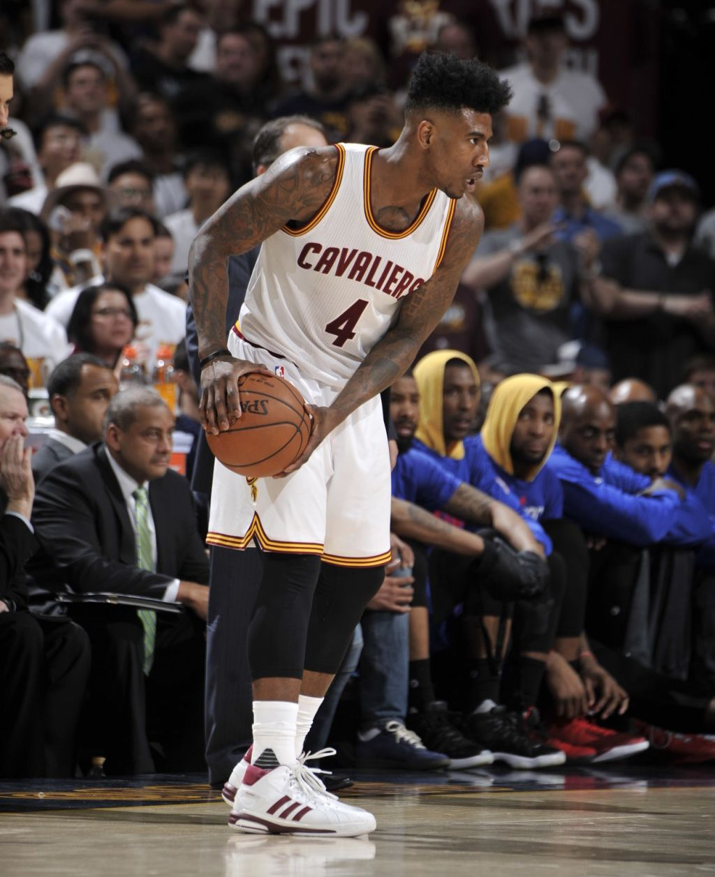 The Cleveland Cavaliers Playoff Kicks On Court Nice