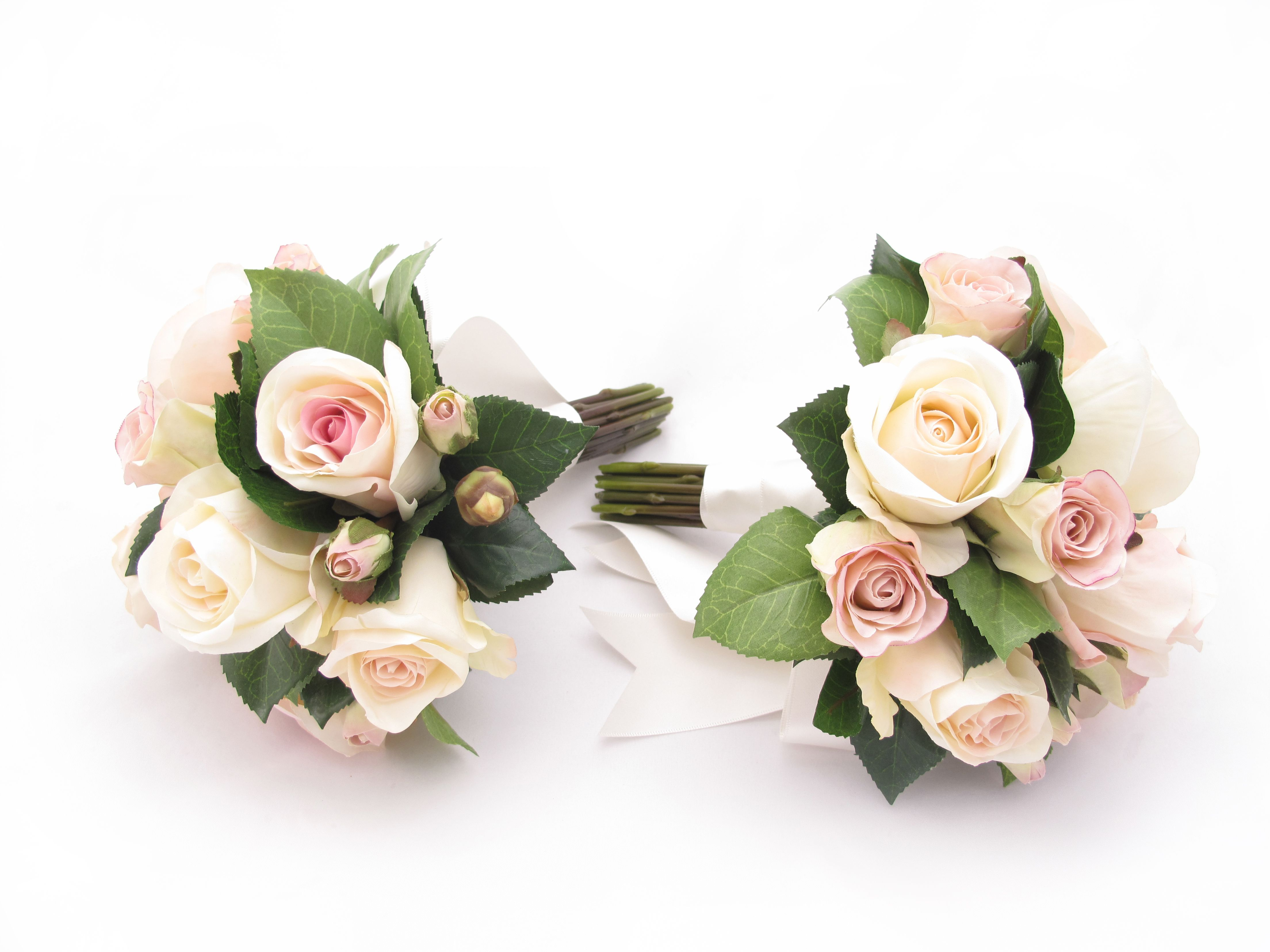 Garden rose and camellia leaf posies by Loveflowers