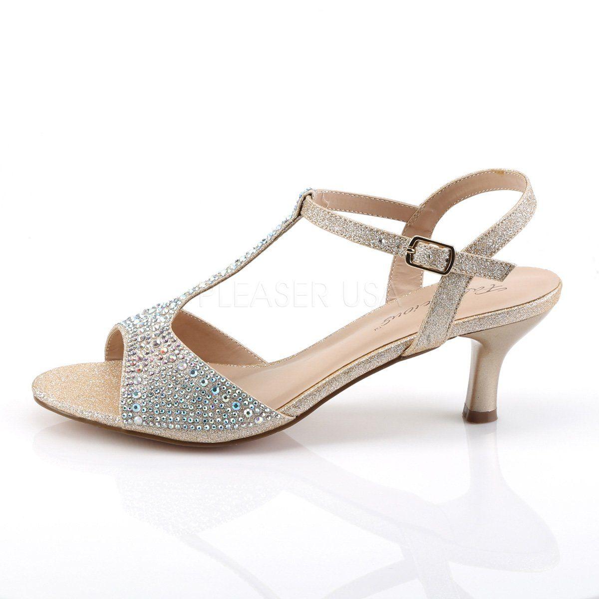 2 1 2 Inch Kitten Heel T Strap Sandal Shimmer 2 1 2 Inch 6 4cm Kitten Heel T Strap Sandal Embellished With Slv Multi Graduation Shoes Heels T Strap Sandals