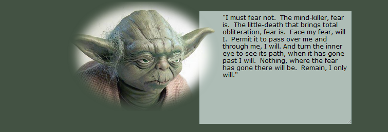 Putting a Dune Quote into YODA speak. PRICELESS!!!