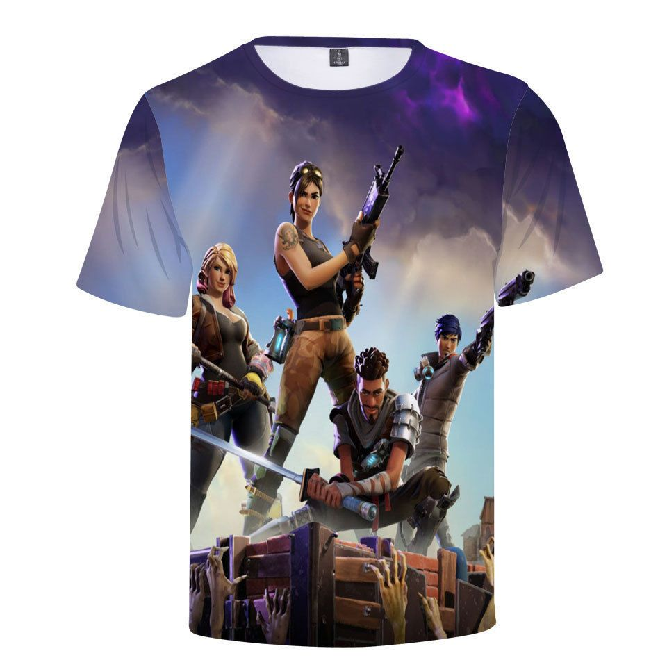 Fort Night Tee Shirt Pullover Camouflage Tops Game Cosplay  Boys Kids Teenagers