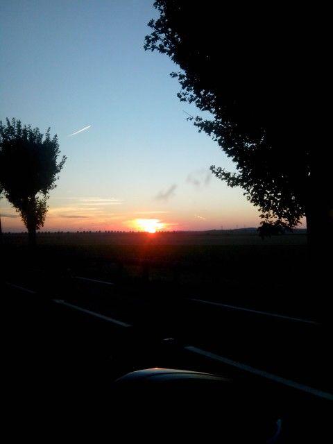 Super coucher de soleil