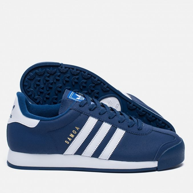 adidas Originals Samoa Mystery Blue/White/Blue. Article: BB8582. Year: