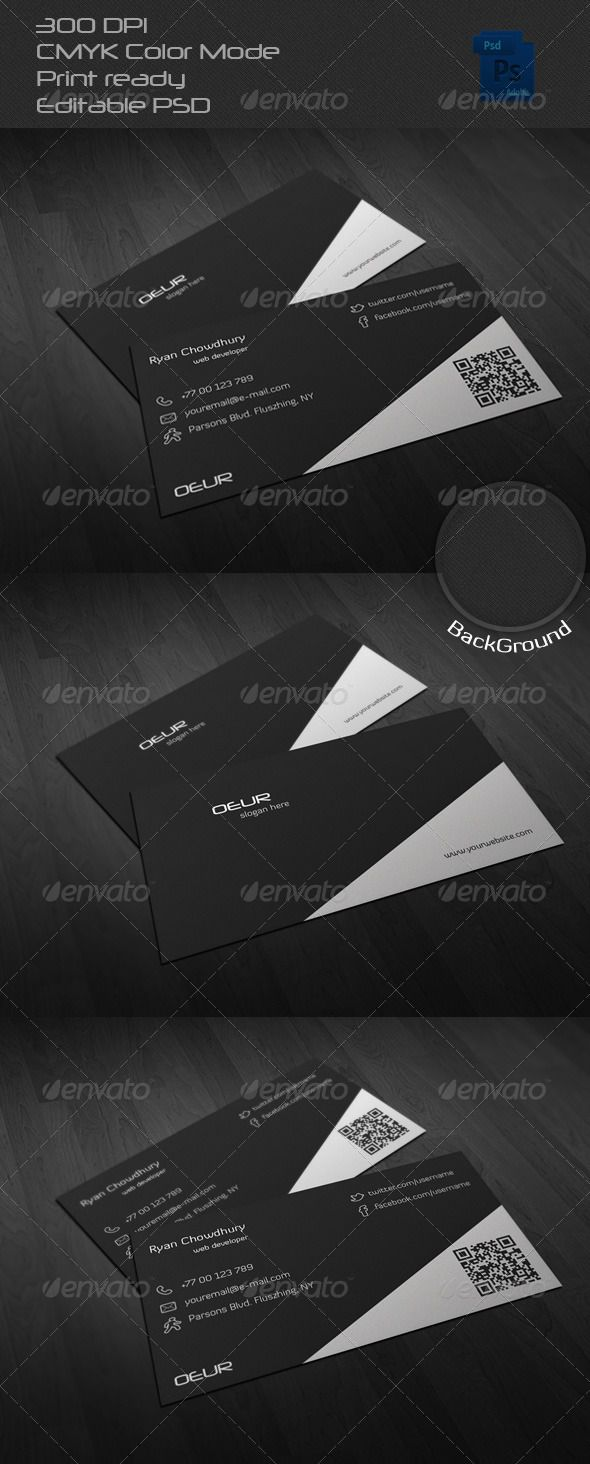 Corporate Business Card A Corporate Business Card with front and ...