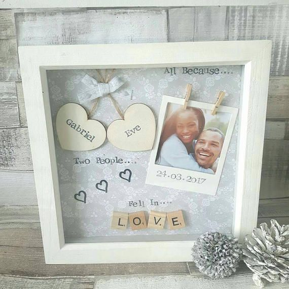 Anniversary Gift, Wedding Gift, Personalised Frame Scrabble, Gifts ...