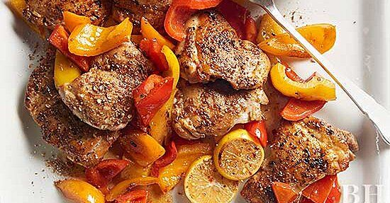 Moroccan Chicken and Peppers
