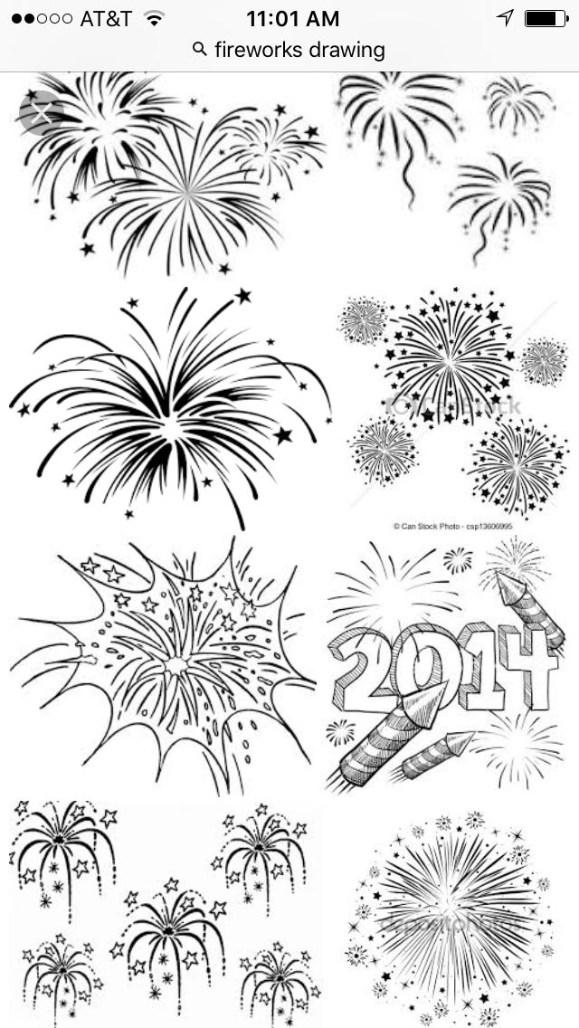 Fireworks Tattoo Idea Feu D Artifice Dessins Faciles Art Mural