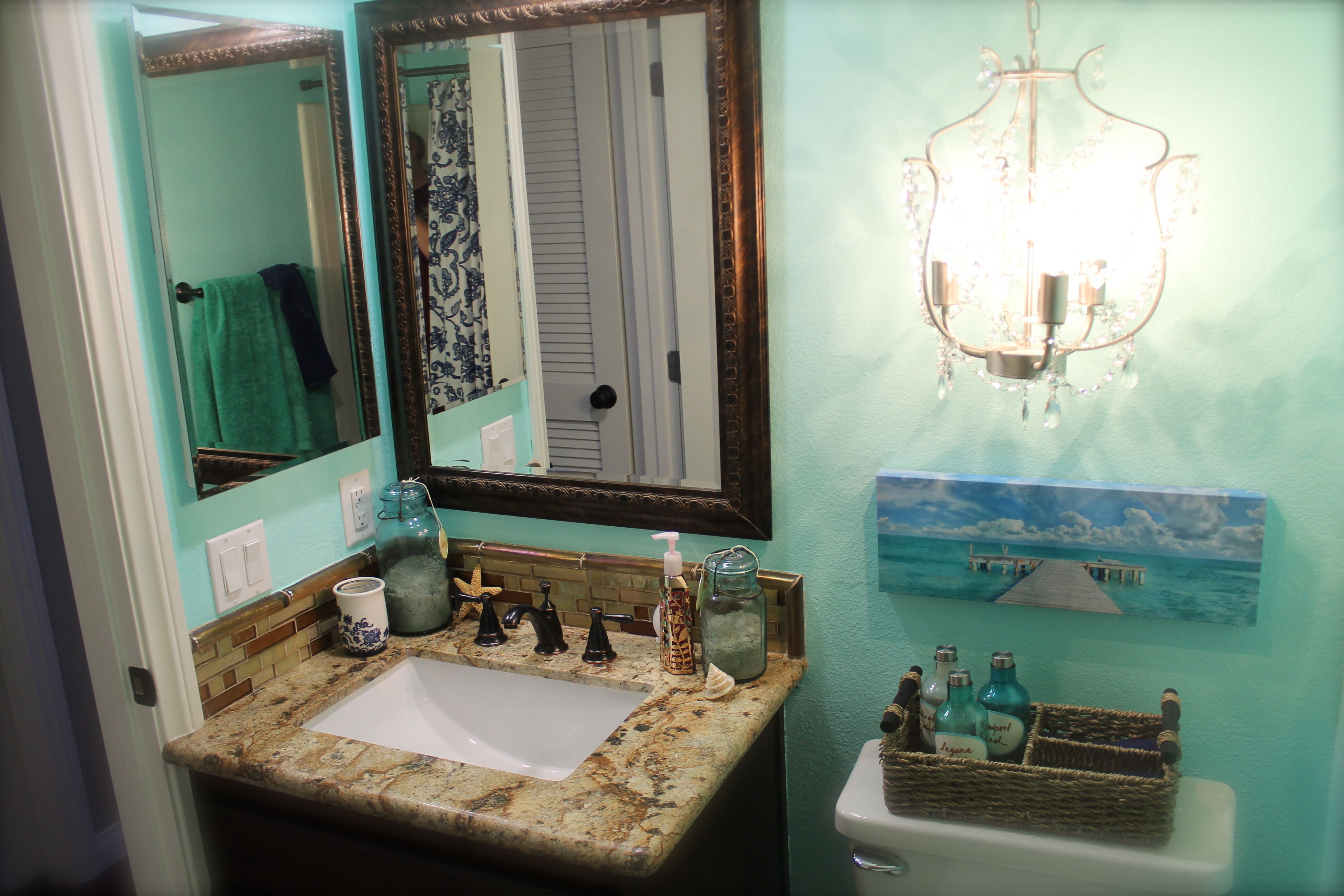 Ocean beach bathroom ideas for the house pinterest for Bathroom beach ideas