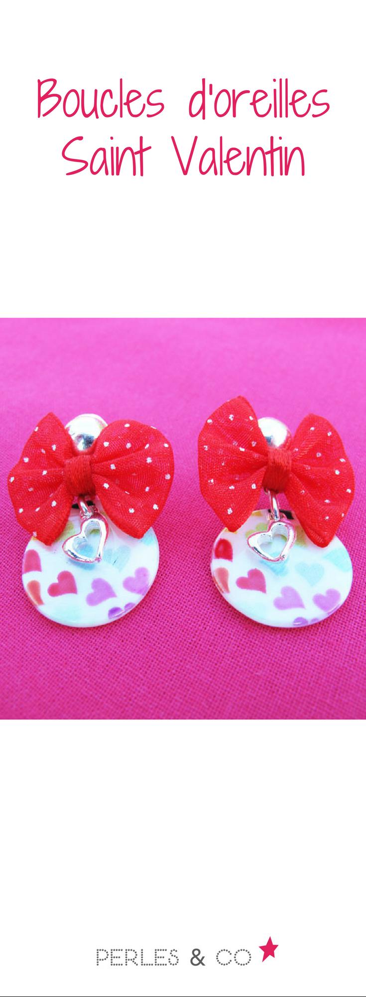 236476833 un tutoriel pour réaliser une paire de boucles d'oreilles avec des coeurs,  parfaite pour la saint valentin. #tutoriel #tuto #diy #bouclesdoreilles  #coeur ...