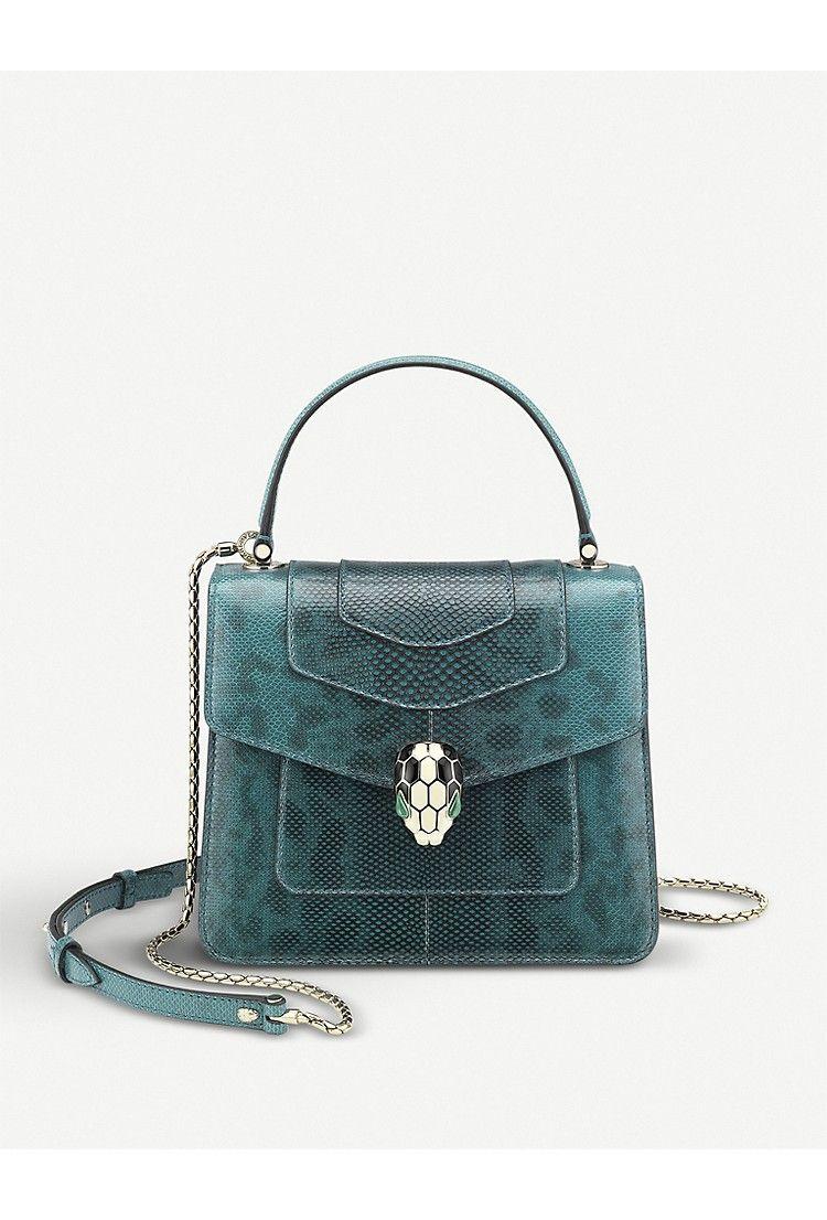 3980cedc0 BVLGARI - Serpenti Forever lizard-leather shoulder bag | Selfridges.com