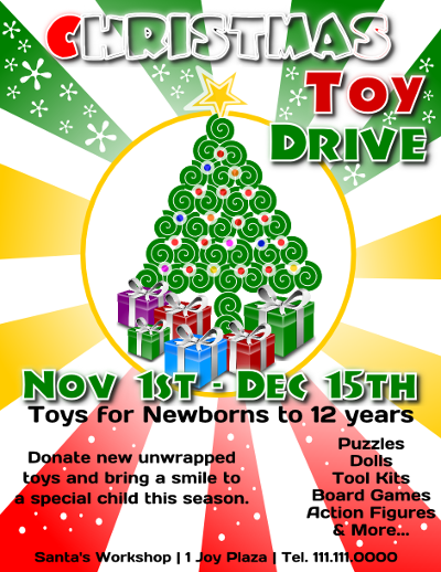 Christmas Toy Drive Flyer Template 3 Christmas Pallet Ideas