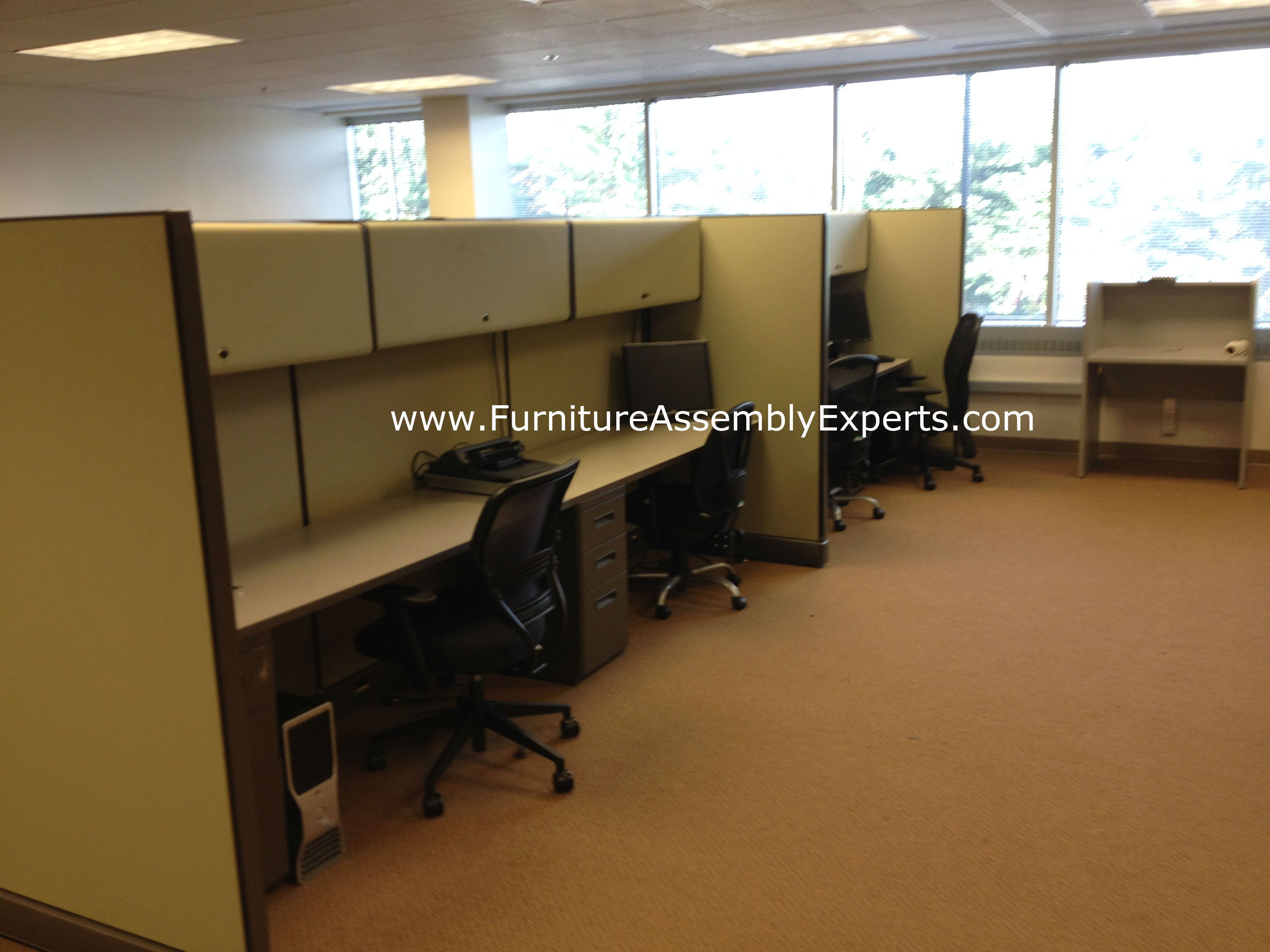 Used Office Cubicles Embled And Reconfigured In Washington Dc By Furniture Embly Experts Llc