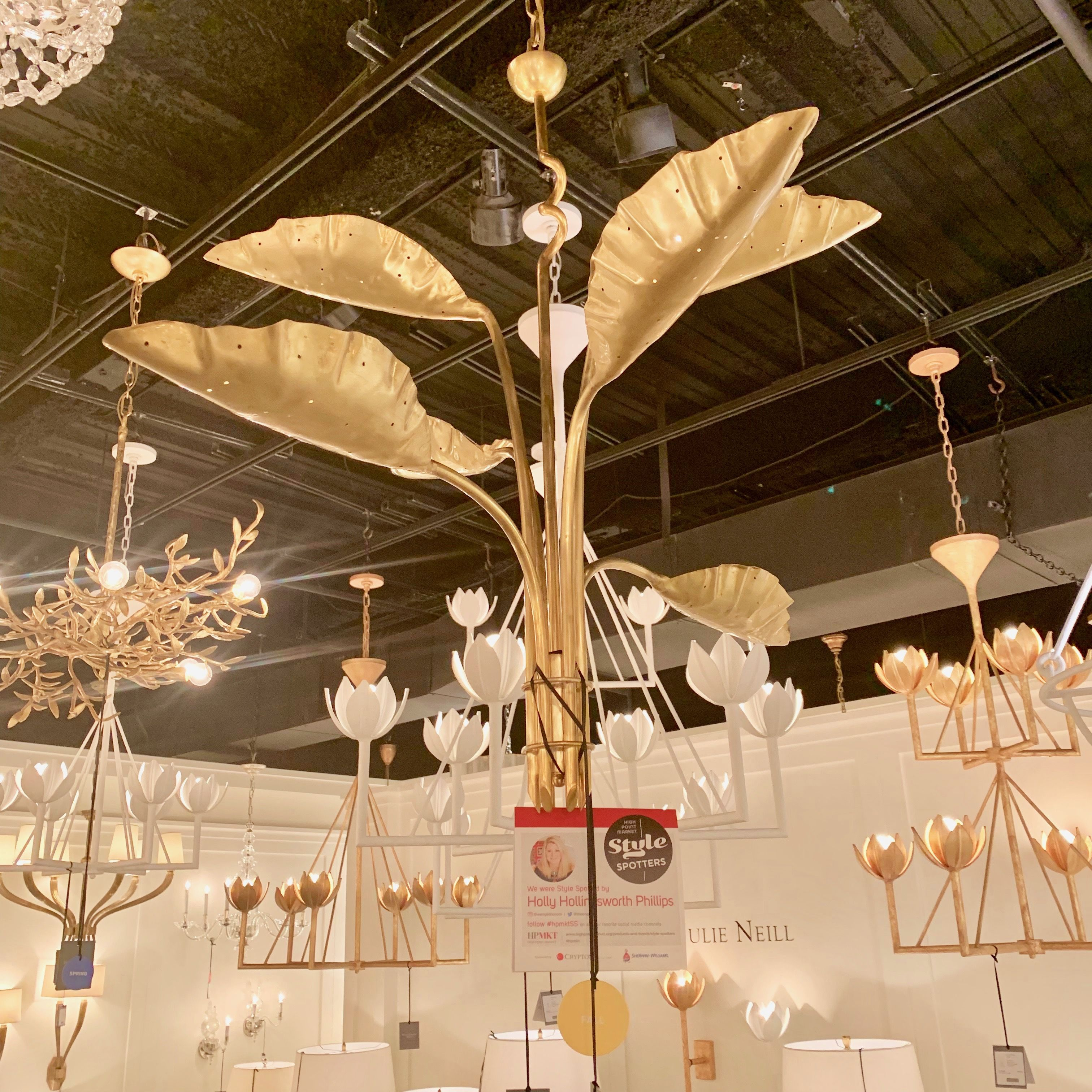 Julie Neill For Visual Comfort With Her Chic Pierced Brass Palm