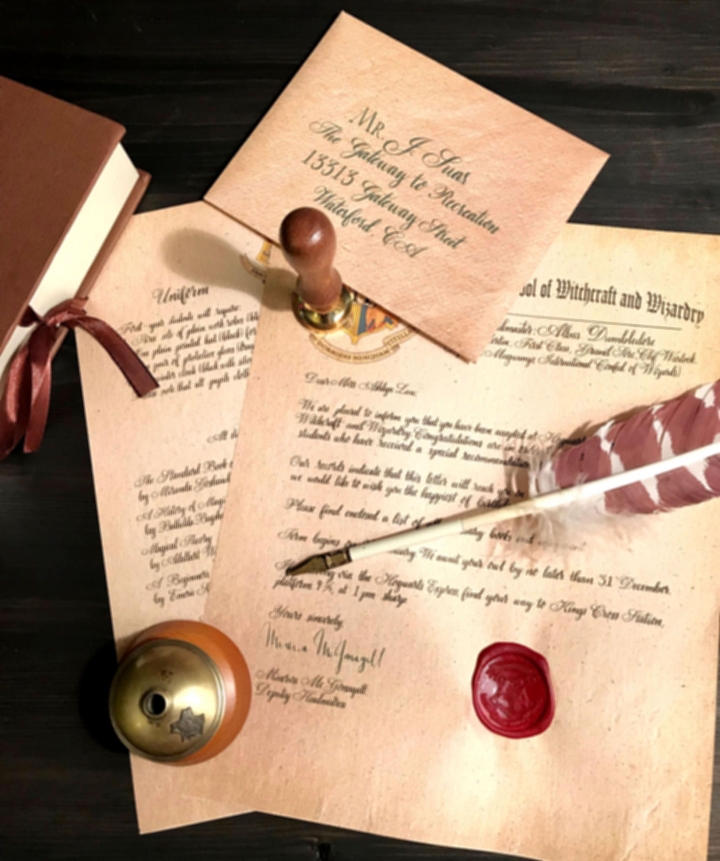Acceptance Letter School of Witchcraft and Wizardry