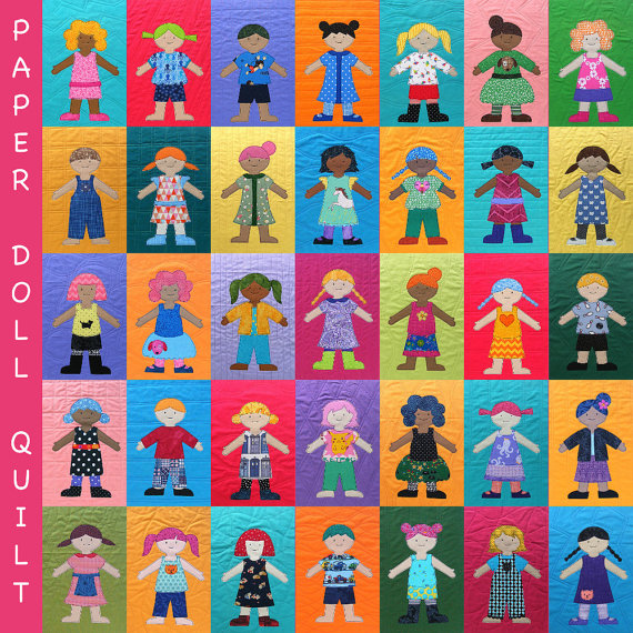 Paper Doll Quilt Pattern (digital PDF pattern)