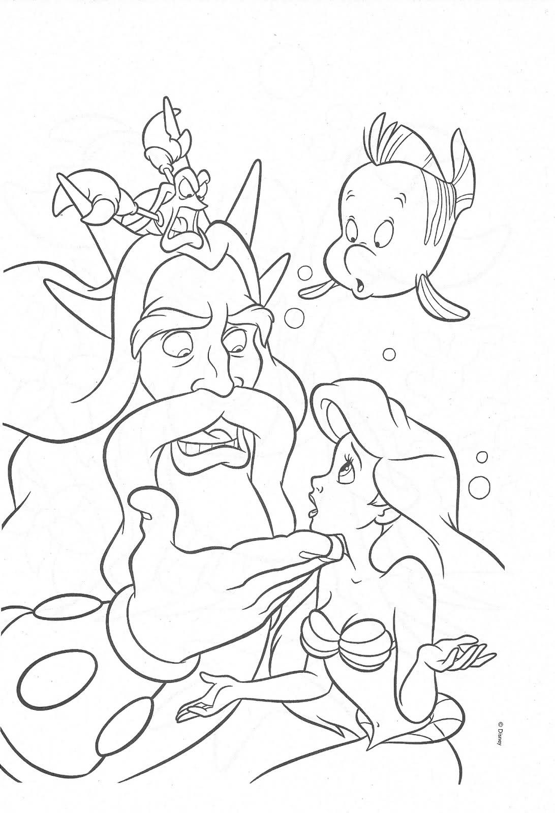 The Little Mermaid Coloring Page Coloring Pages