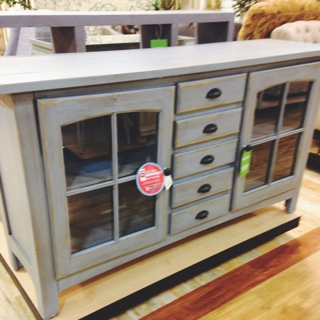 The Goods app is your sneak peek into HomeGoods  featuring daily photos of  goods from every HomeGoods store. Cottage Blue Media Console   home goods   Pinterest   Consoles