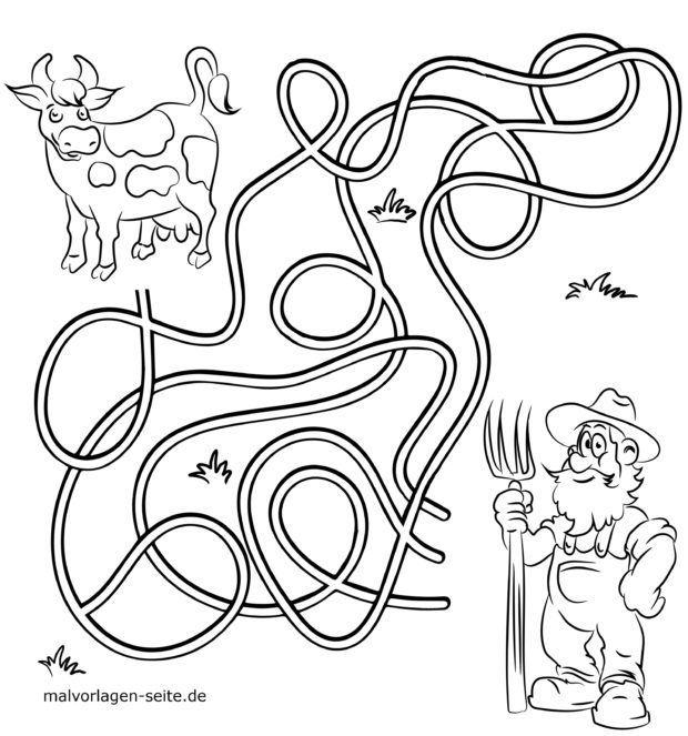 labyrinth  finde den weg  kostenlose ausmalbilder