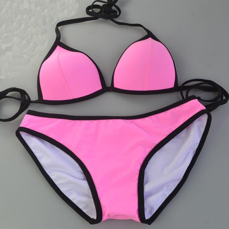 높은 품질 Supervalu 화사하게 여성 간단한 아름다운 섹시한 삼각형 비키니 비치 수영복 작은 가슴 비밀 비키니