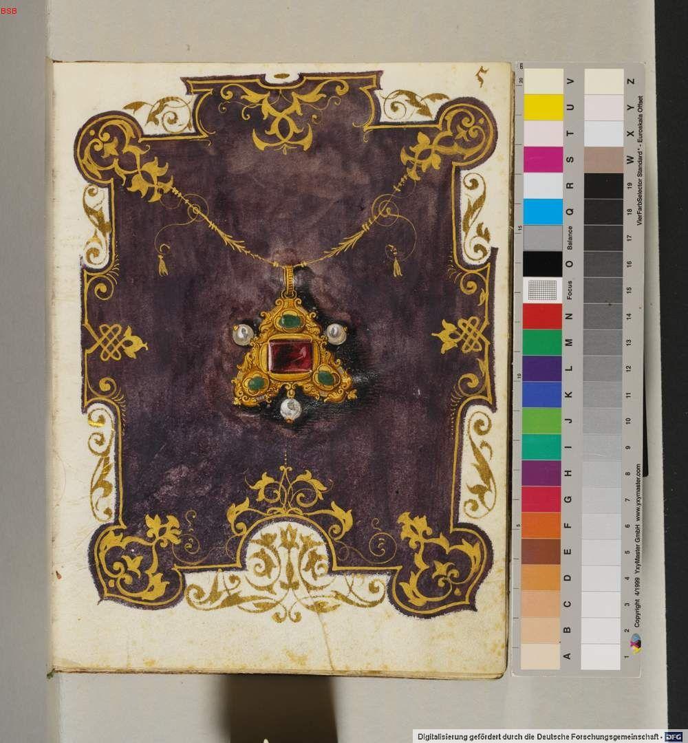 Anna of Bavaria Jewel Book 1550s