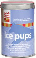 """""""Ice Pups"""" by The Honest Kitchen -- my post-surgery dog wouldn't eat or drink ANYTHING until this!  Ice pups can be served three ways – during the winter months, offer a warm, nourishing broth that tastes divine. Ideal after playing in the snow! In summer, serve Ice Pups as a chilled refreshing beverage, or freeze the liquid in ice cube trays to make a healthy, puppy-sorbet!"""