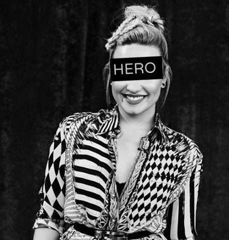 My hero and inspiration, you give me hope. you reminded me that I don't have to model thin to be pretty. thank you demi