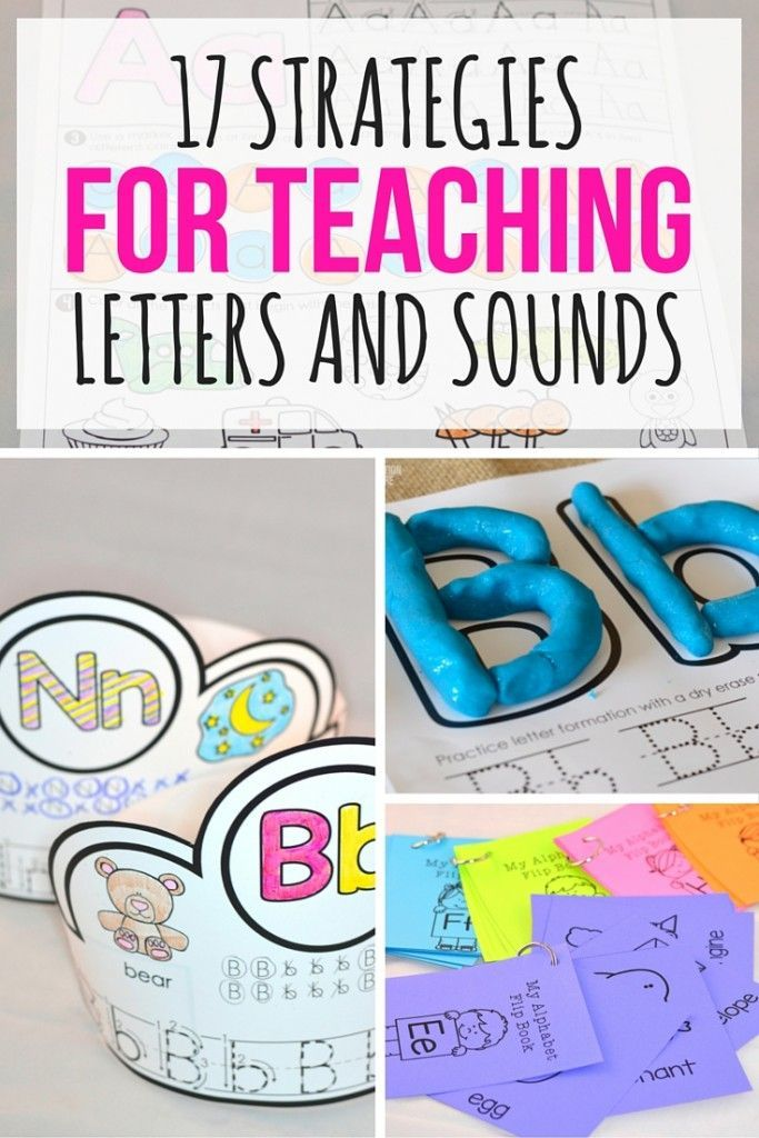 17 Strategies for Teaching Letters and Sounds | Kinder abc, Kind und ...