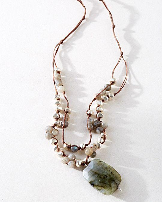 in2 design Hanna Large Drop Necklace Labradorite Pinterest