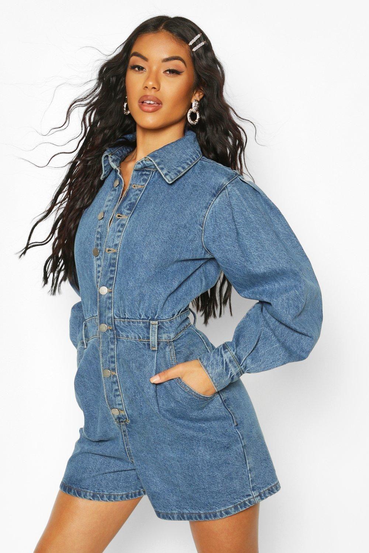 49++ Boohoo lace up denim dress trends