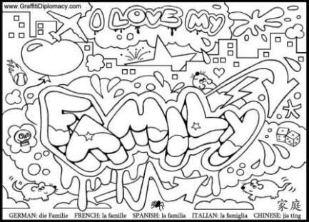 Free Graffiti Coloring Page | B&W | Pinterest | Ausmalbilder, Kunst ...