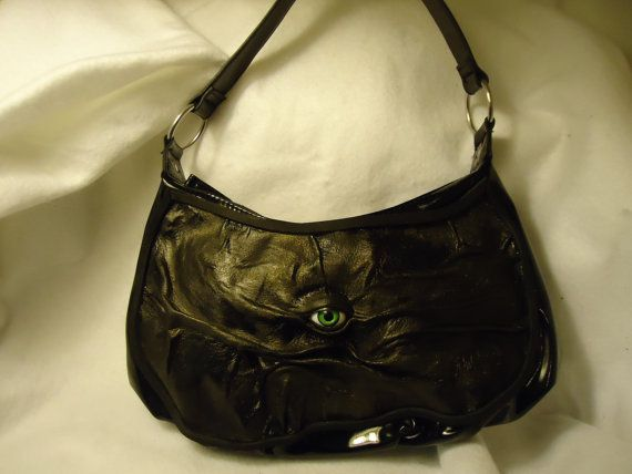 Leather Purse Goth Halloween Witch Wiccan Pagan by pippenwycks, $45.00