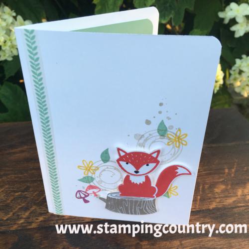 Foxy Friends  Swirly Bird Card, Stampin' Up!, Cards, Fox