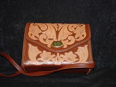 Leather Engraved Purse