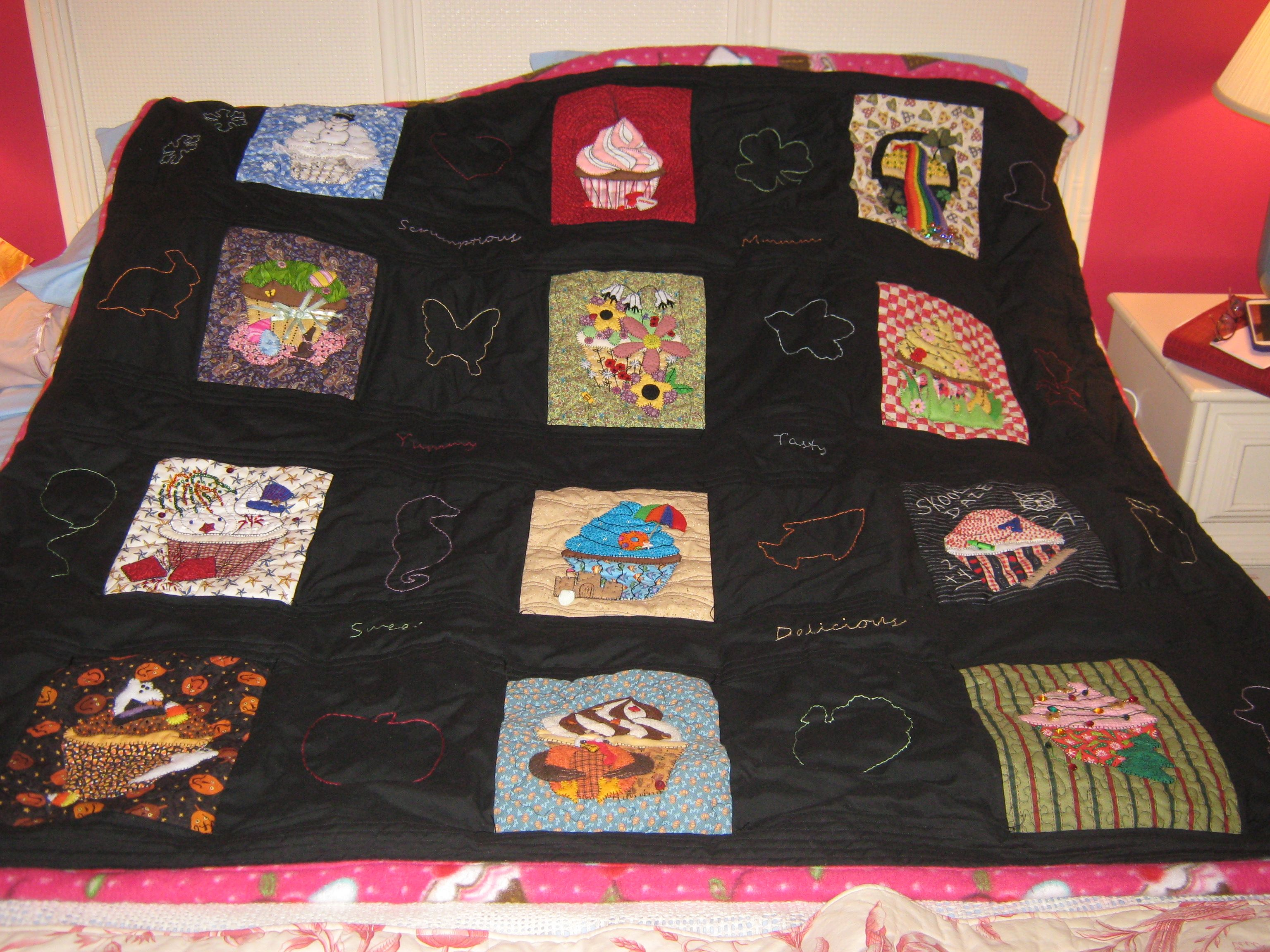 Assembled Cupcake Quilt w/o backing