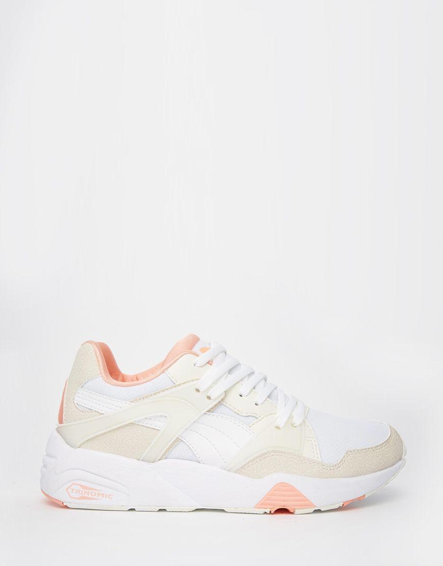 Puma Blaze Trinomic Beige Sneakers | Beige trainers, Beige ...