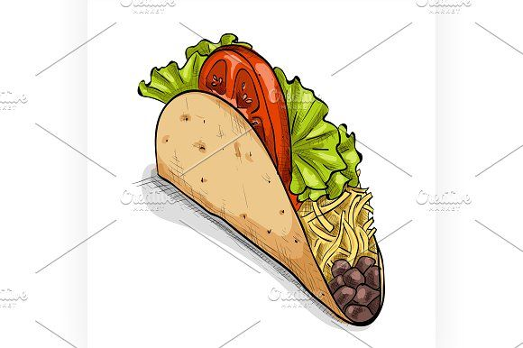 Free Taco Salad Clipart |Taco Salad Coloring Pages