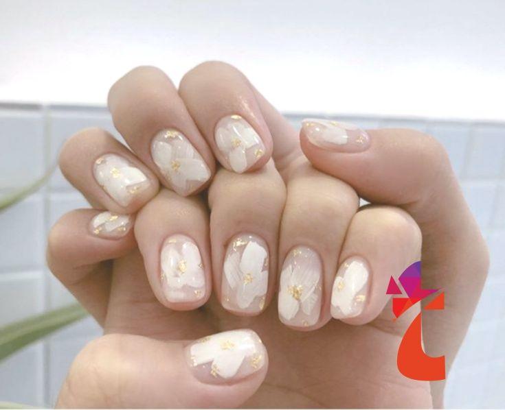 Floral Mani by Nail Mini,  #Floral #Mani #Mini #Nail #koreannailart