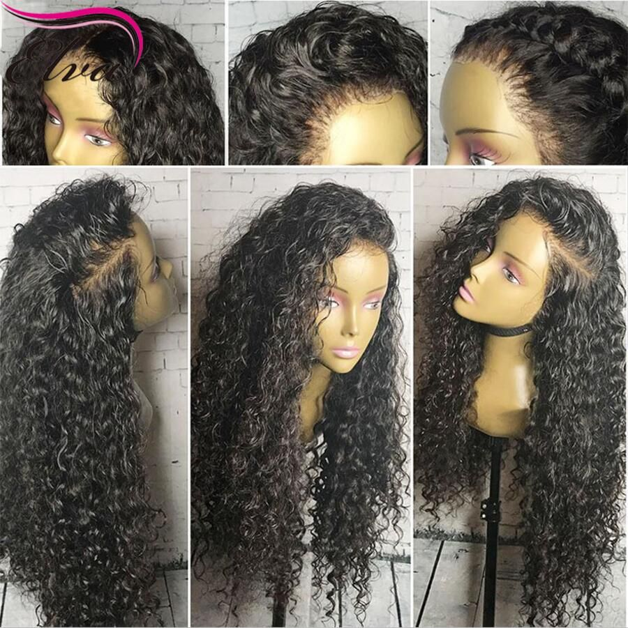 Water Wet And Wavy 13*6 Lace Front Human Hair Wigs Short Curly Preplucked Lace Wig Remy Virgin Hair Natural Wig Deep Part Lace Wigs