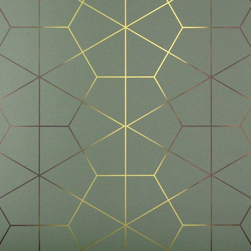 Exposition Wallcovering In Jade In 2019 Art Deco
