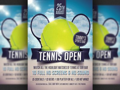 tennis party flyer - Google Search tennis Flyer template