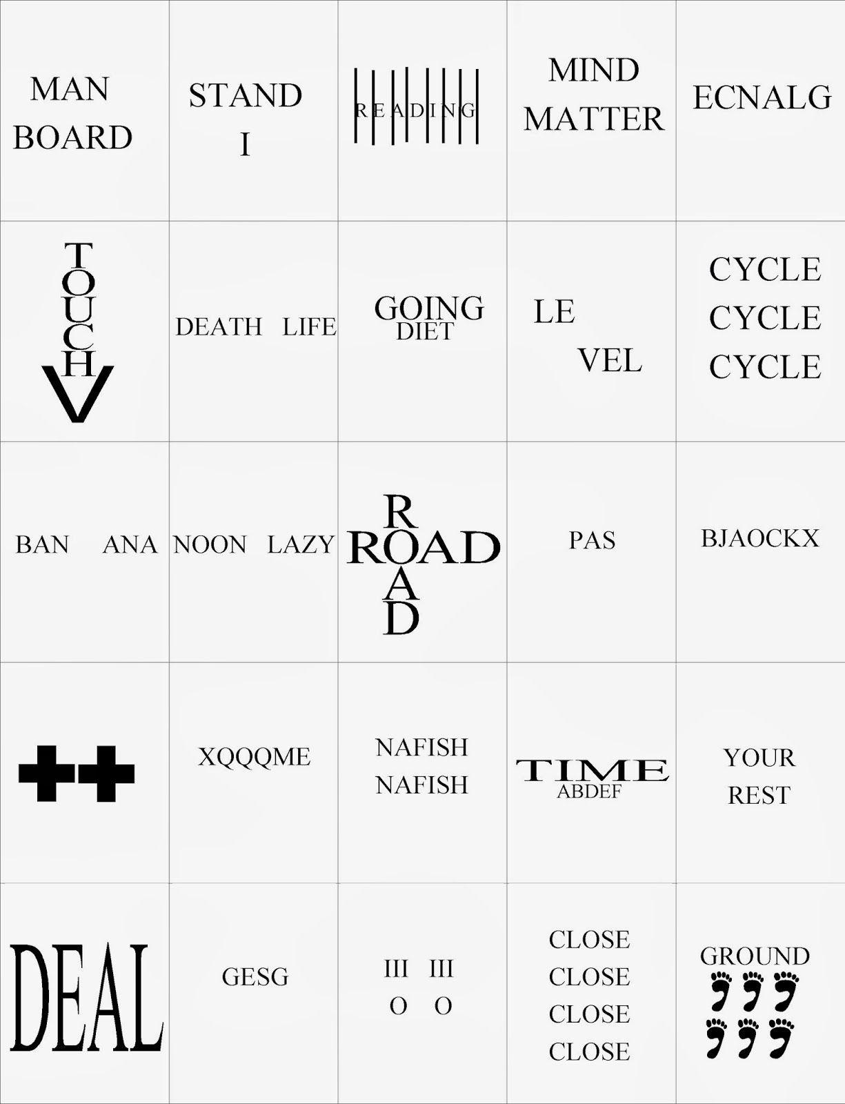 Hidden Meaning Brain Teaser Free Printable Game
